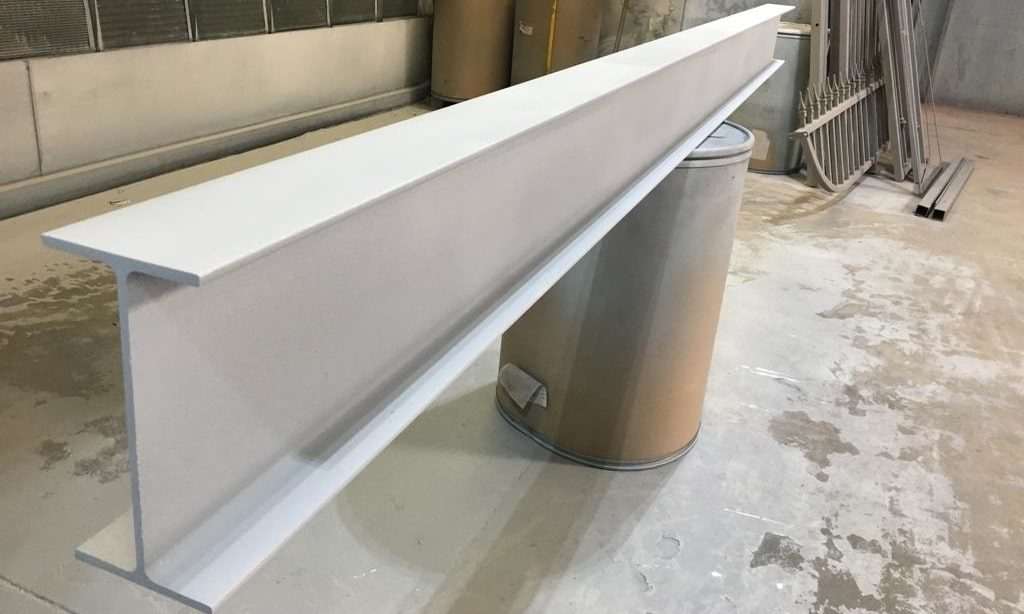 Metalized beam