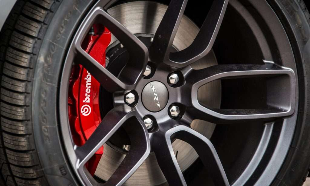 Powder coated car rim