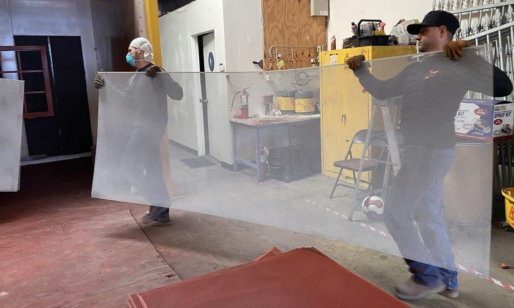 proceso de pintura líquida antes